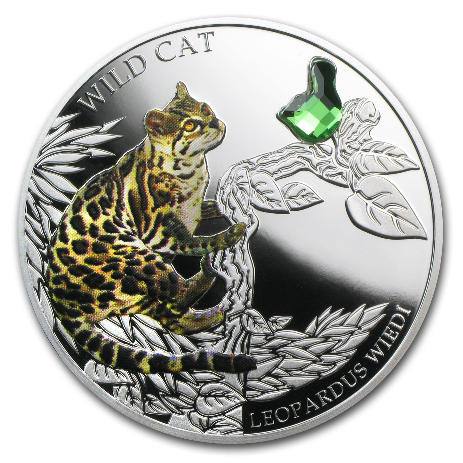 2013 Fiji Silver Dogs & Cats Series Wild Cat Leopardus Wiedi